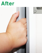 Size and Colours 2150x30x13mm. Please contact customer service for longer length. & www.safedoorsaustralia.com - Sliding Door Guard
